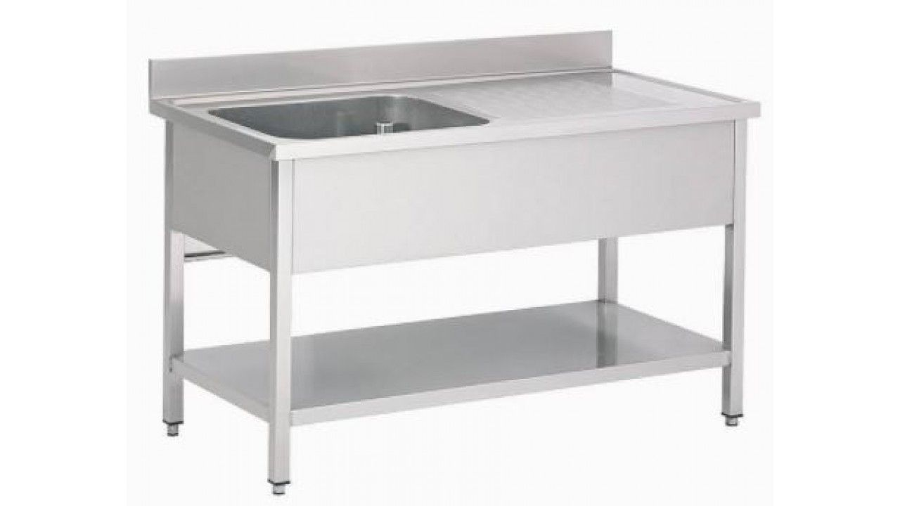 Combisteel Stainless Steel Single Left Bowl Sink 1200mm Wide - 7408.0300